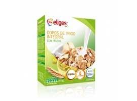 Copos de trigo integral con frutas, 375 grs ELIGES