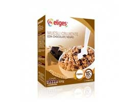 Muesli crujiente con chocolate, 500 grs ELIGES