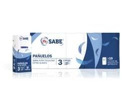 Pañuelos bolsillo 10x10 3 capas(100) SABE