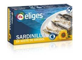 Sardina en aceite vegetal, 88 grs ELIGES