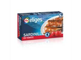 Sardina salsa tomate, 88 grs ELIGES